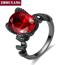 Luxury Big Oval Crystal Black Gold Color / Silver Color Fashion Jewelry Ring For Women Wholesale Top Quality DD025 DD028 DD029