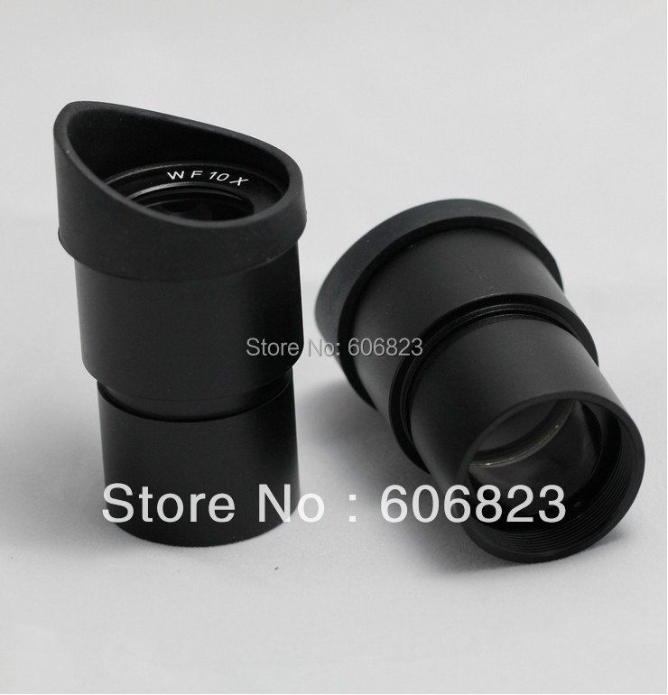 Brand New WF10X WideField Stereo Microscope Eyepiece 30.5mm for Olympus Nikon with eyeguard! free shipping цена