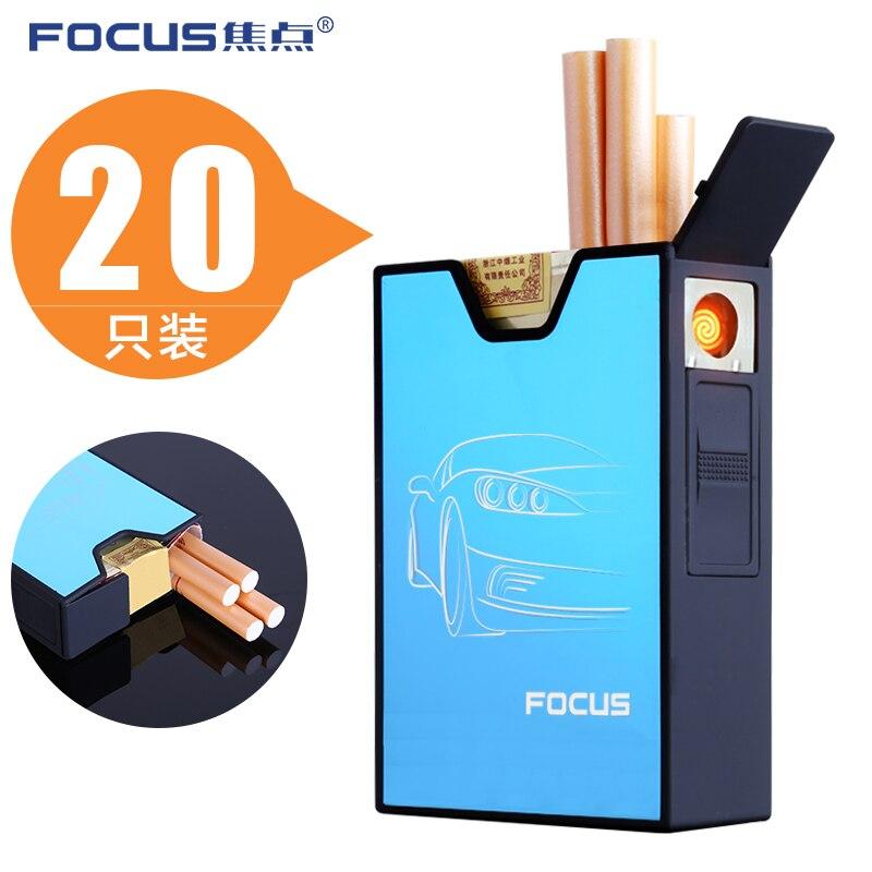 De focus sigaret Case Box Houd 20 sigaretten USB Opladen - Huishouden