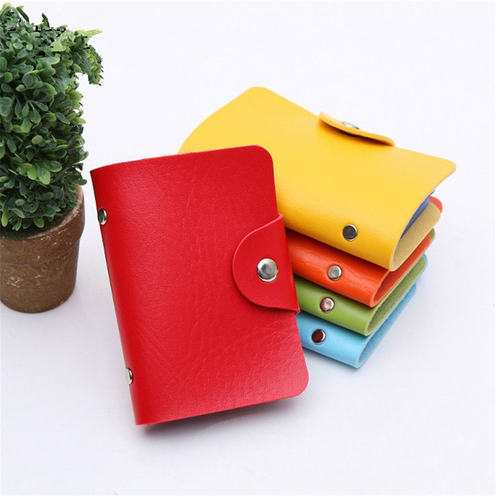 24bit 2 Holder Third-party Credit Card Waterproof Plastic Card Sets Multicolor Business Card Package Bus Card Bag Woman Wallet M