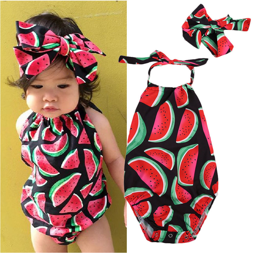 Newborn Toddler Baby Girls Watermelon Romper Jumpsuit Outfits bodysuit baby girl clothes Clothes