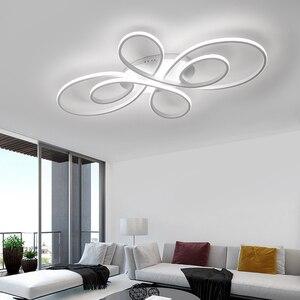 Image 4 - NEO Gleam yeni sıcak RC beyaz/kahve Modern Led tavan ışıkları oturma odası yatak odası çalışma odası için kısılabilir tavan lamba armatürleri