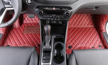Red Car Floor Mats Custom Fit For Hyundai Tucson 2015 Car Styling Auto Floor Mat Car Accessory Carpet Cover