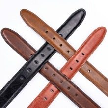 Dropship Brand Genuine Leather Pin Buckle Vintage Casual Men Belt Red Brown Cowbody Jeans Belt Strap Cintos 130cm Narrow belt