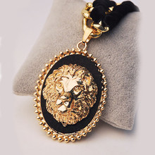 136c0a006 Lidavi Classic Lion Necklaces Pendants Hip hop Cuban Chain Hip Hop Necklace  Gold Color Jewelry For Women and Men Clothing Gifts