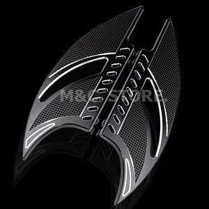Image 2 - שחור CNC טומהוק קדמי נהג Stretche רצפה רגל נשענת להארלי סיור Softail FL Dyna FLD 1986 2015 מודלים