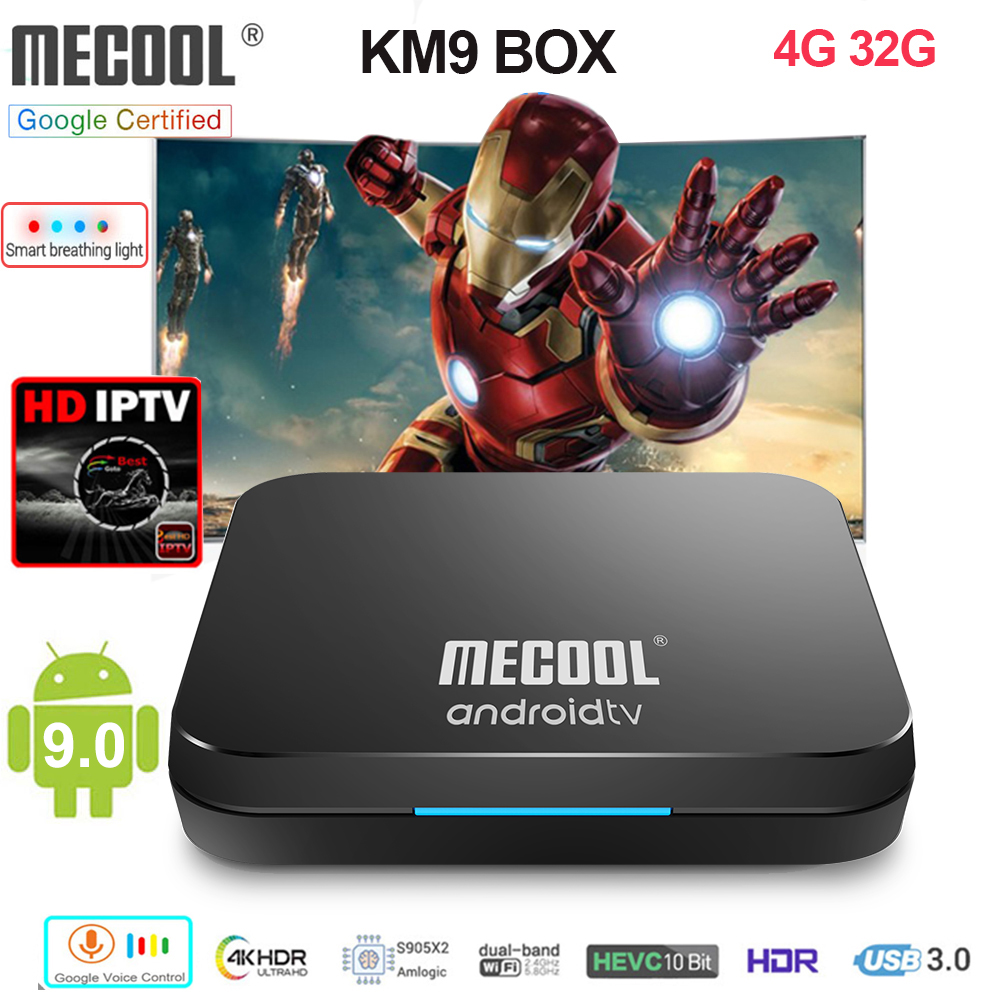 Mecool KM9 Smart TV Box S905X2 4GB 32GB Android 9 0 WIFI BT 4 1 4K