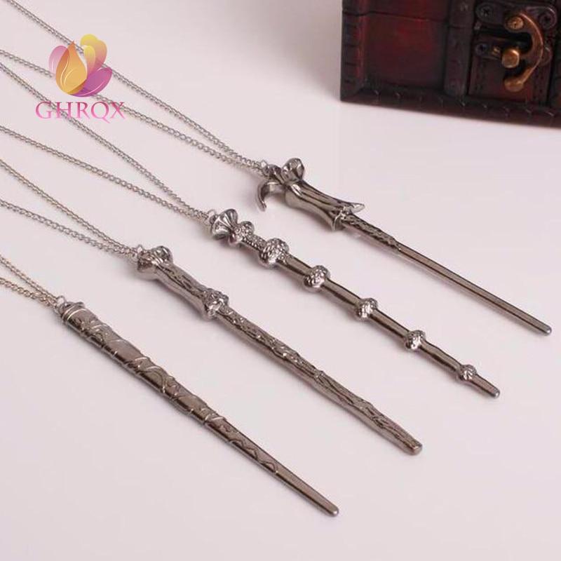 Vintage Necklace Harry Dumbledore Voldemort Hermione Ron Wand Potter  Pendant Necklace Elder Wand Necklace Key Chain Кошелёк