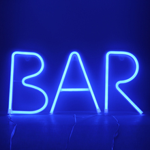 Night Lights Neon Lamp 26 Letters Alphabet Blue Color Lighting For Birthday Wedding Party Bedroom Wall Hanging Decor