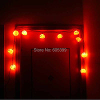 Festival Lantern 16 LED String Light For Halloween Haunted House Supplies Bar Decoration Pumpkin String Fairy lights ghost lamp
