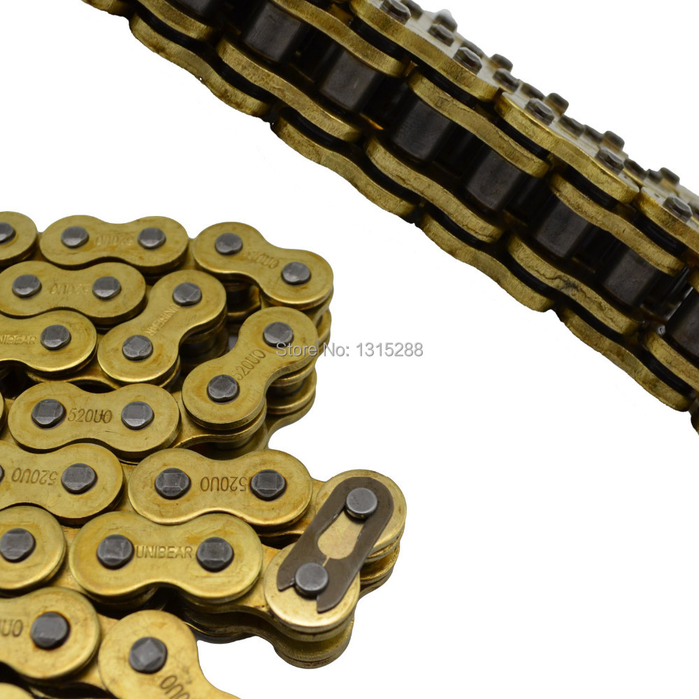 428 * 136 Chain Motorcycle parts big Chain 100% Brand new 428 Gold O-Ring Drive Chains 136 Link Fits for all models 428 136 motorcycle drive chain atv parts unibear 428 gold o ring chain 136 links for suzuki drz125 motocross dirt bike