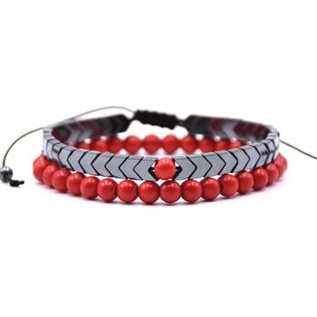 Bracelet longue distance rouge