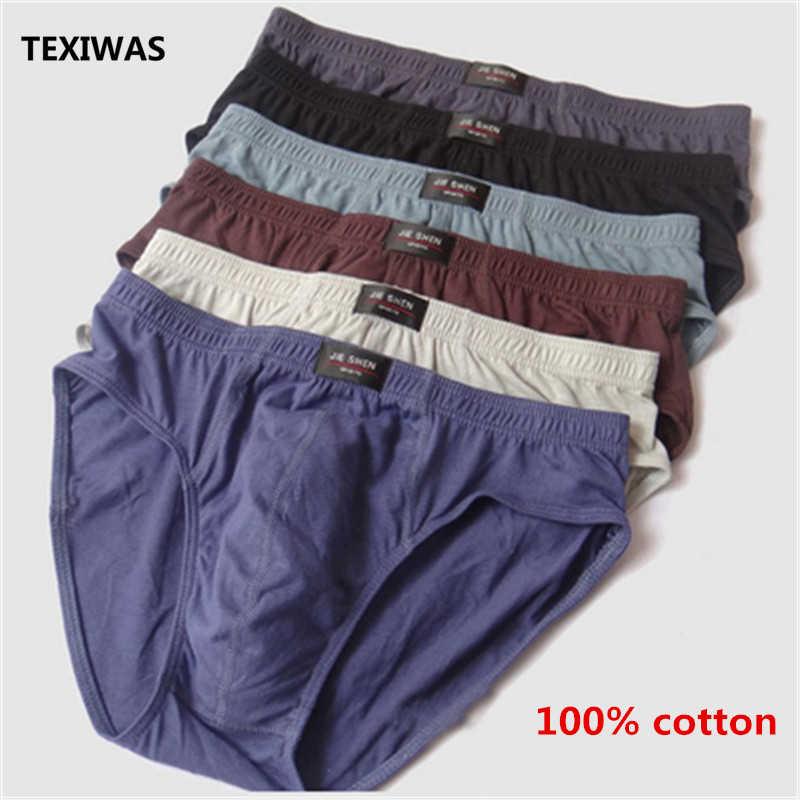 100% de algodón para hombre, novedad en Calzoncillos largos de Bikini para hombre, ropa interior Sexy de talla grande 4XL 5XL, venta directa de fábrica