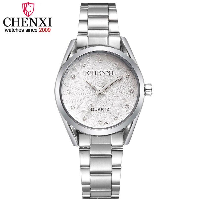 CHENXI Relógios Das Mulheres Da Forma 2017 Nova Lady Quartz Pulseira de Aço Inoxidável relógios de Pulso de Luxo Reloj Mujer Quartz-relógios xfcs