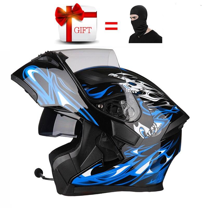 Casque Moto Bluetooth casques DOT pour Casque Casque Motocross Harley Casque Ls2 Cross Casque Casco Moto descente & Q34