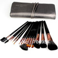 15pcs/set Makeup Brushes Nylon Wool wood handle Quality professional Brushes Set Black