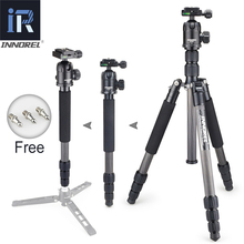 INNOREL RT40C Carbon Fiber Camera Tripod Professional Travel Compact Video Monopod with Quick Release Plate & Ball Head