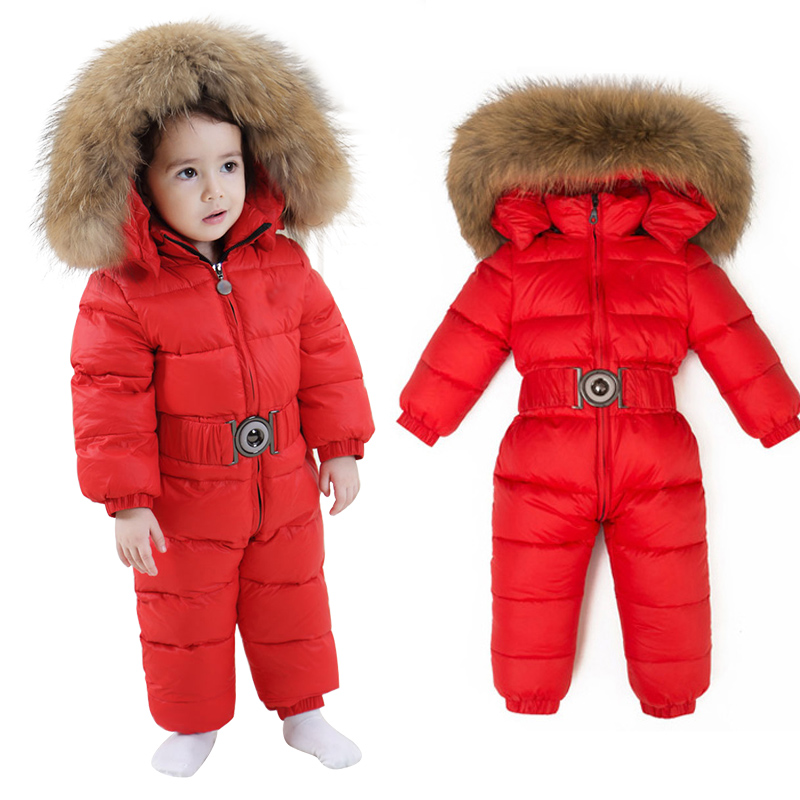 Winter Thick Baby down Rompers Children Jumpsuit Boys girls overalls Snowsuit Infant kids Walking dress Warm clothes Baby wear 2015 new arrive baby winter baby girls boys clothes thick warm newborn baby snowsuit down rompers kids clothing 1 4 years