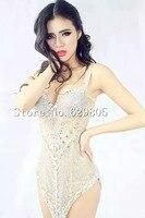 Сияющий алмаз платье Перспектива сверкающий кристалл Платья для вечеринок сценический костюм Производительность Клубная одежда со страза