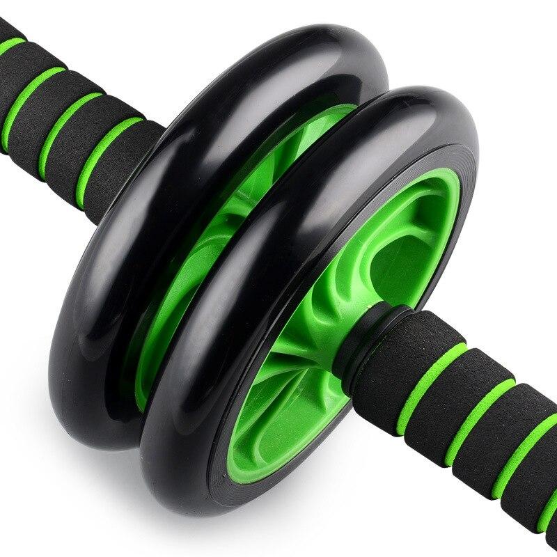 funseries yepyeni hiçbir gürültü yeşil karın tekerleği ab rulo mat egzersiz fitness ekipmanları ücretsiz nakliye