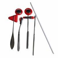 5pcs/set Surgical Reflex Hammer Multifunction Clinics Hammer Medical Diagnosis Neurological Plexor Health Care Tool Red