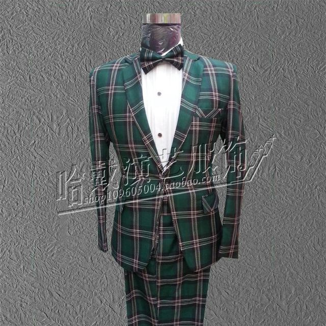 Estilo coreano Plus Size Magro dos homens ternos carregamento comercial Masculino Terno Conjunto Formal vestido de noiva twinset
