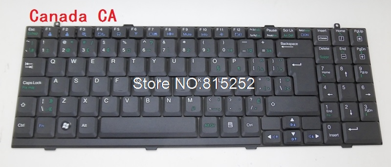 Laptop Keyboard For LG RB510 RD510 RV510 S510 S510-X Canada CA Nordic NE Korea KR Belgium BE laptop keyboard for acer silver without frame canada ca v 121646ck2 ef aezqsk00110