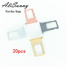 AliSunny 20pcs SIM Card Tray Holder for iPhone 6S Plus 6SP 4.7 SIM Card Adapter Replacement Parts
