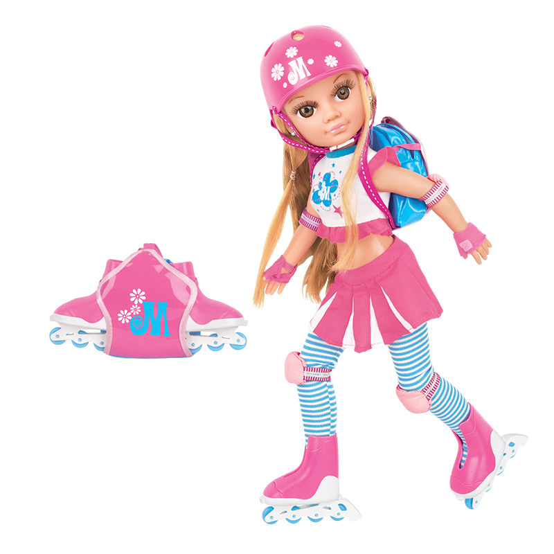 American doll toy 3D eyes skating girl simulation doll set joint activity children dressing doll pretend toy gift birthdayAmerican doll toy 3D eyes skating girl simulation doll set joint activity children dressing doll pretend toy gift birthday