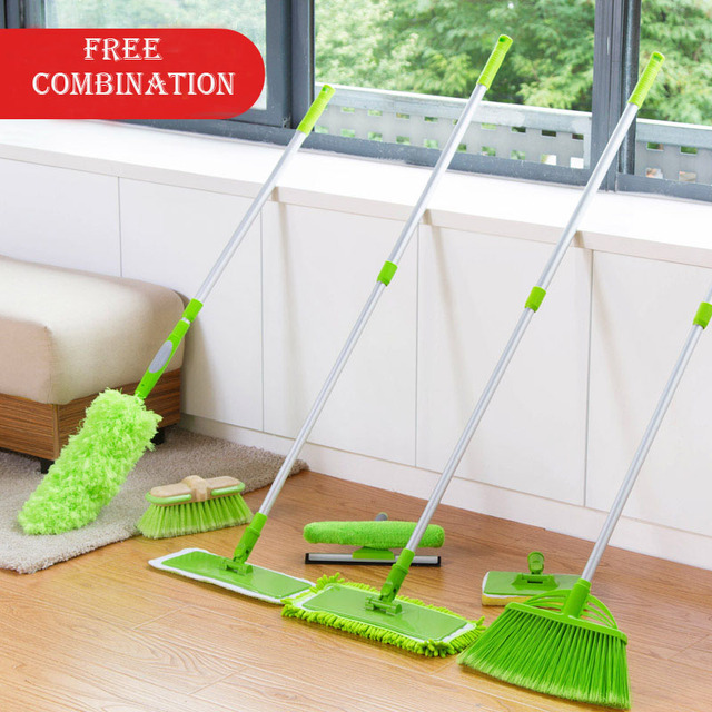 DIY Free Combination Cleaning Tool High Quality Flat Mop Home Duster Wiper  Broom Sweeping Home Office