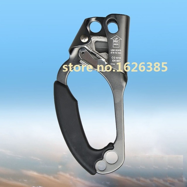 Left hand hold ascending device CE quality for outdoor rock mountain climbing tool hardware rope ice belt lifting sling