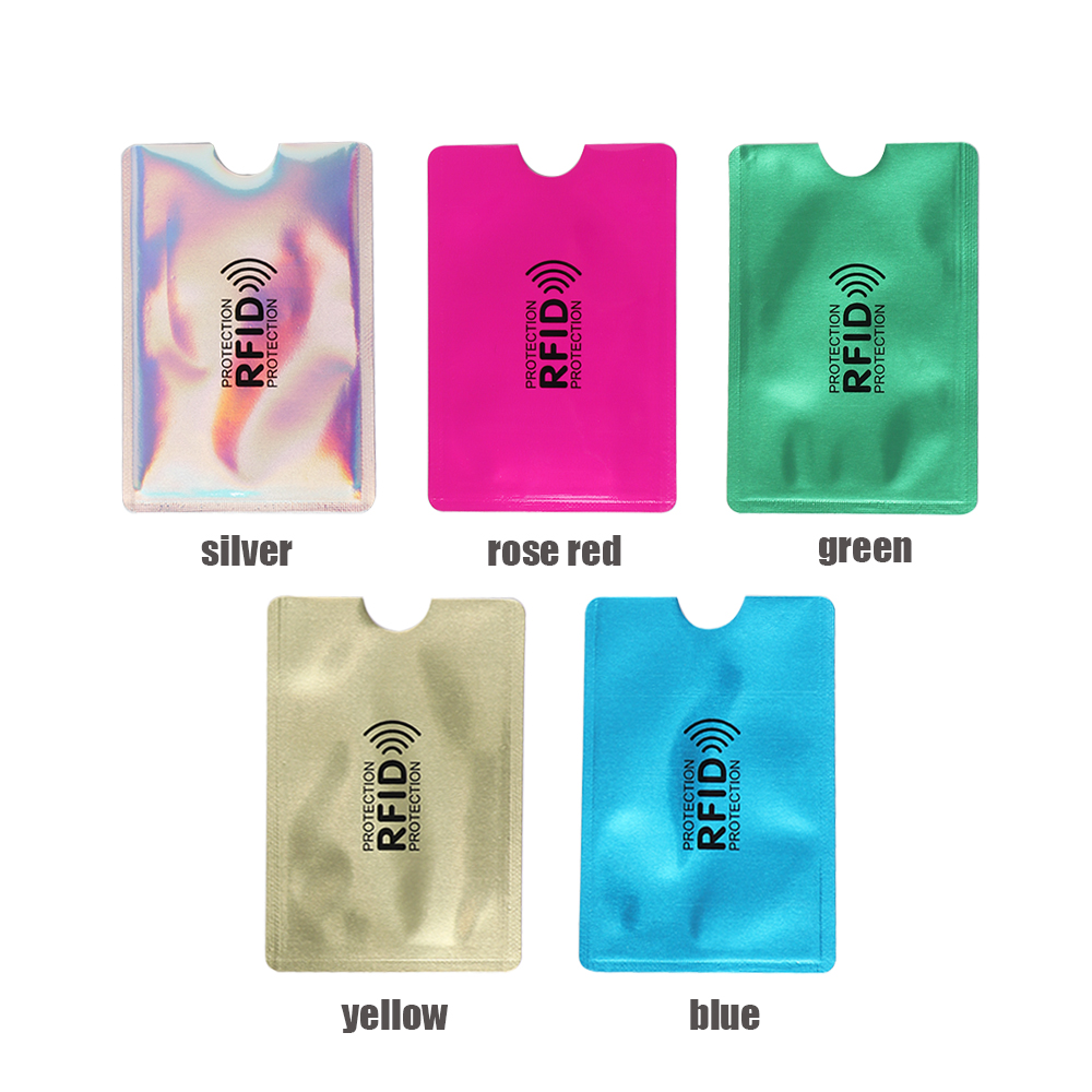 5PCS Aluminium Anti Rfid Colors Blocking Reader Lock Card Holder Id Bank Card Case Protection Metal Credit Card Holder