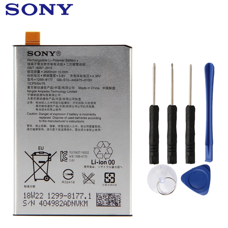 Original Replacement Sony Battery For SONY Xperia X F5121 F5122 F5152 L1 G3313 LIP1621ERPC Authentic Phone Battery 2620mAhOriginal Replacement Sony Battery For SONY Xperia X F5121 F5122 F5152 L1 G3313 LIP1621ERPC Authentic Phone Battery 2620mAh