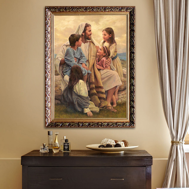 Jesus Christ Canvas Print Painting Poster And Print Of Catholic Wall  Pictures For Living Room Home