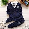 Primavera 2016 nova roupa das crianças 0-1-2-3-4 anos de idade do bebê terno de algodão tecido da moda