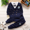 Spring 2016 new children's clothing 0-1-2-3-4 years old baby suit cotton fabric trendy