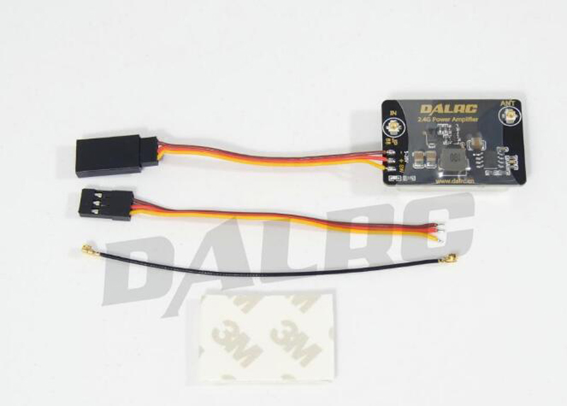 ФОТО DALRC 2.4GHz 8dBm Power Amplifier increase remote control distance extender for  Phantom 2 / FUTABA / Frsky / FPV