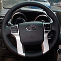 Case for Toyota Land cruiser Prado 2010 year Steering wheel covers Specially covers Genuine leather DIY steering covers