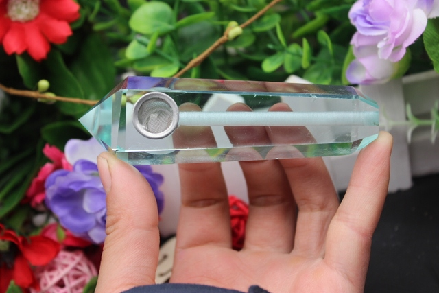 96 grams of quartz crystal glass smoking pipe magic wand to heal   A89