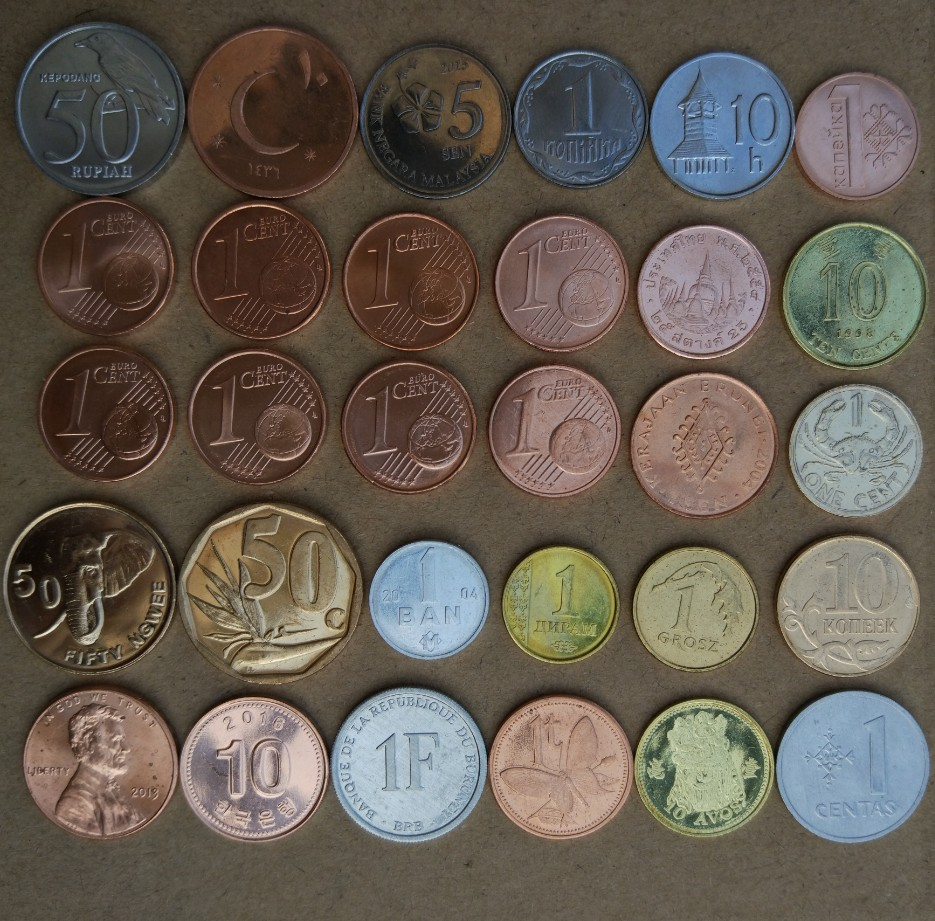 COLLECTION of 10 WORLD coins from 10 countries.
