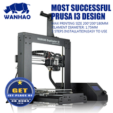 WANHAO 3D Printer i3 V2.1, DIY Desktop 3D Printer,with Build size 200*200*180mm, free Filament,SD card and LCD as gift
