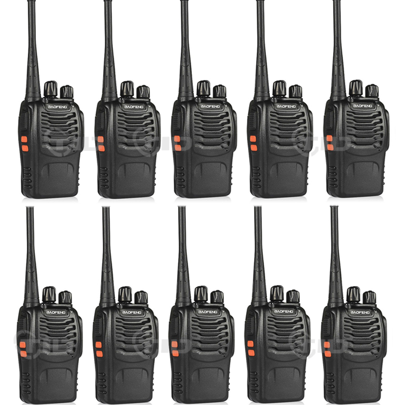 10pcs baofeng bf-888s Walkie Talkie 16CH UHF 400-470MHz skinkeradio til 888s CB Radio Two Way Radio