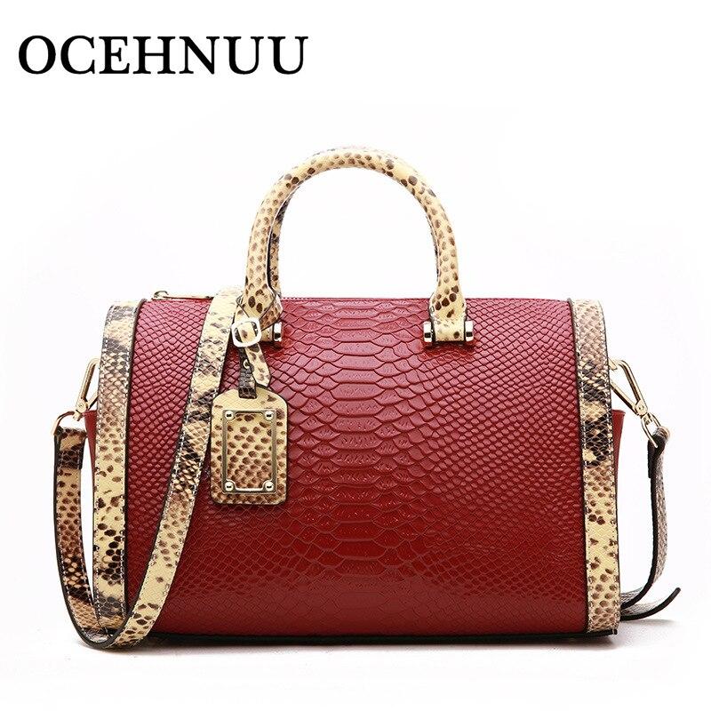 OCEHNUU Designer Genuine Cow Leather Women s Handbags Crossbody Bags Vintage High Quality 2018 Ladies Shoulder