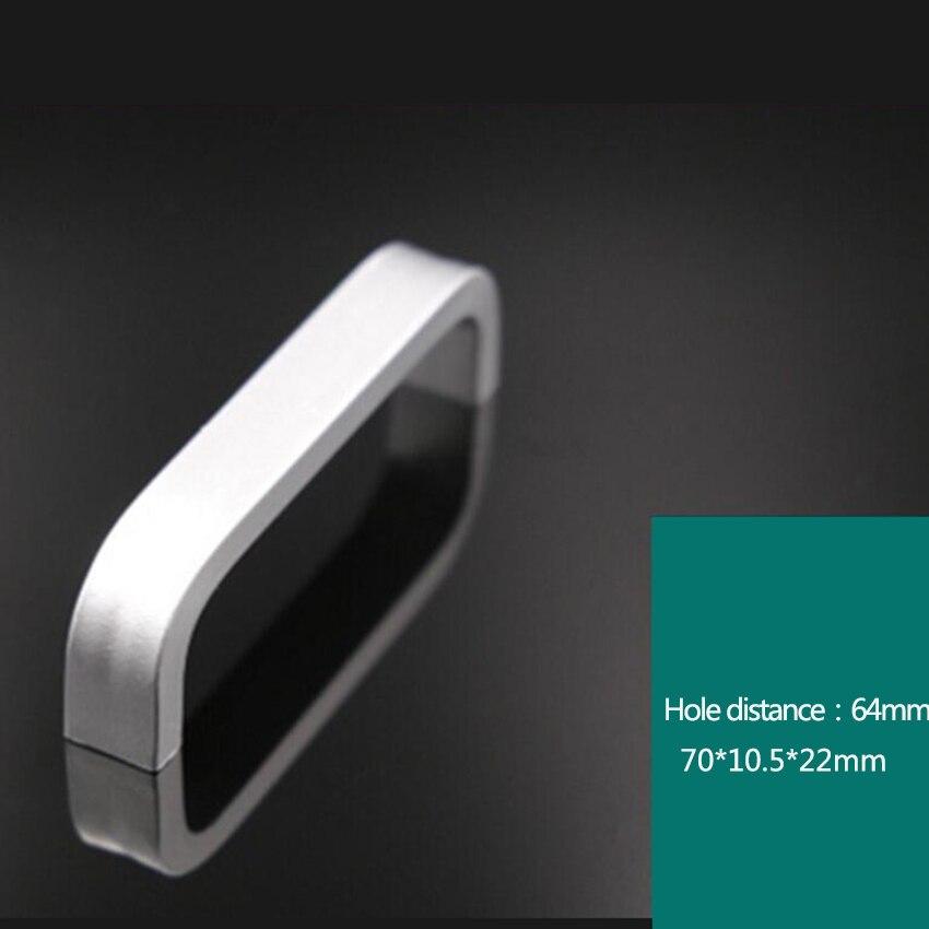 Дверные ручки простые выдвижные ящики для шкафа кухонные ручки и ручки для мебели ручки и ручки - Цвет: 64mm