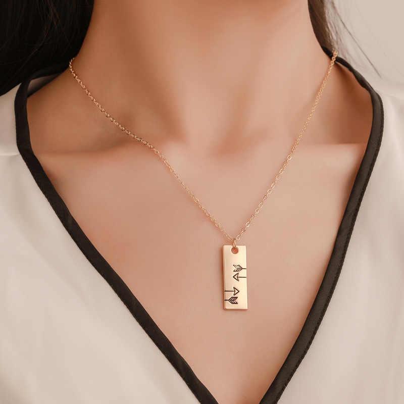 3pcs Feather ลูกศรทองคำชุดสร้อยคอยาวจี้สร้อยคอผู้หญิงโซ่คนรัก Clavicle Choker เครื่องประดับ