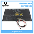 Bigeer! 2015 MK2A 300*200*3.0mm PCB Heatbed RepRap RAMPAS 1.4 + LED + + Resistor cabo + 100 k ohm Theristors PCB hreat cama