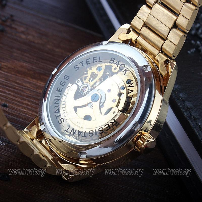 HTB18NtBckSWBuNjSszdq6zeSpXaA Luxury Silver Automatic Mechanical Watches for Men Skeleton Stainless Steel Self-wind Wrist Watch Men Clock relogio masculino