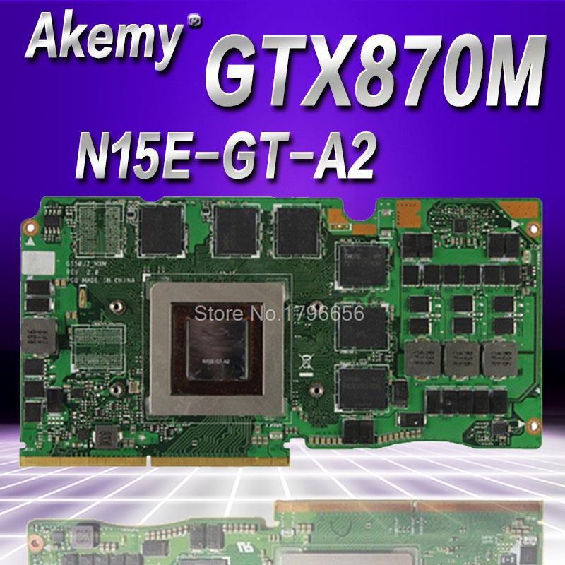 AKemy G750JS Ver 60NB04M0-VG1020 69N0QWV10C02-01 GTX 870M GTX870M DDR5 3GB VGA Video Card For Asus G750JS laptopAKemy G750JS Ver 60NB04M0-VG1020 69N0QWV10C02-01 GTX 870M GTX870M DDR5 3GB VGA Video Card For Asus G750JS laptop