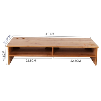 Single Monitor Stand | Monitor Stand Riser With Storage Organizer Bamboo Monitor Screen Increased Shelf Desk Storage Box Rack