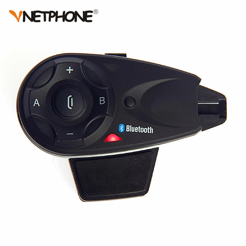 VNETPHONE 1200M BT Bluetooth Motorcycle Helmet Interphone For 5 Riders Talk at same time Intercom with Headset 2pcs e6 wireless full duplex helmet intercom bt interphone 1200m motorcycle bluetooth helmets headset walkie talkie for 6 riders